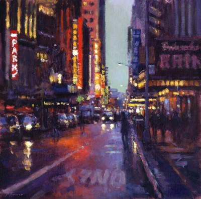 British Artist David FARREN - 7pm, West 44th Street, Manhattan