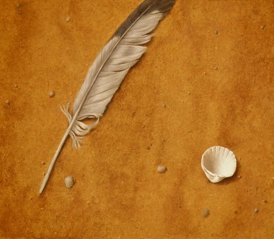 British Artist David GLEESON - Feather, Shell
