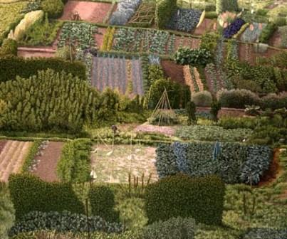 British Artist David Inshaw - Allotments