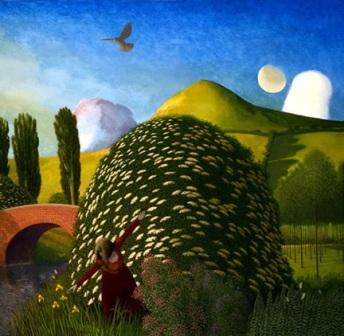 Limited Edition Prints Artist David Inshaw - The Canal Bank