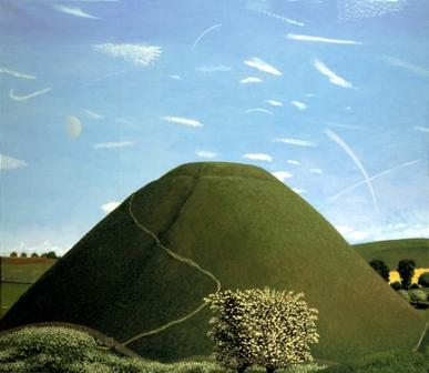 British Artist David Inshaw - Silbury Hill in May