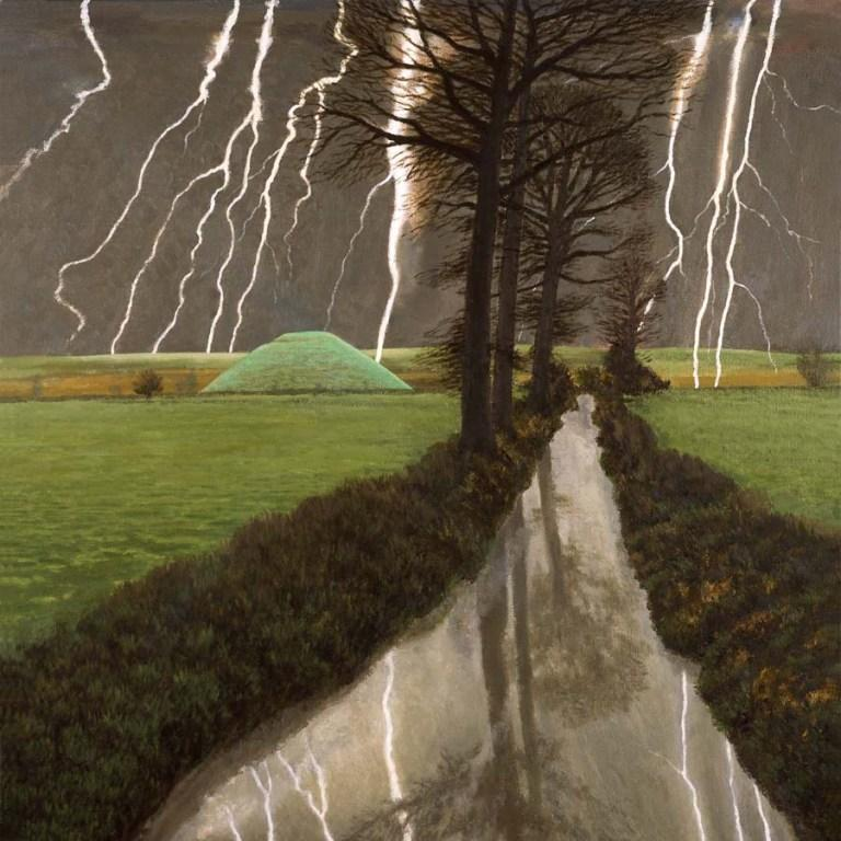 David Inshaw - Storm Over Silbury Hill
