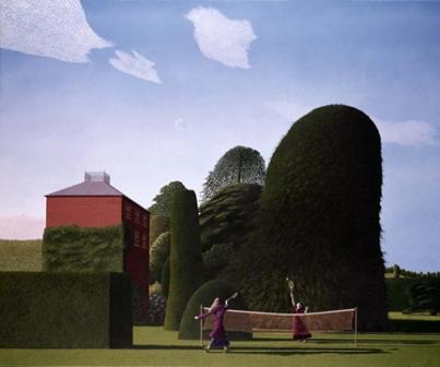 Limited Edition Prints Artist David Inshaw - The Badminton Game