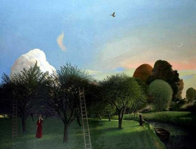 David Inshaw - The Orchard