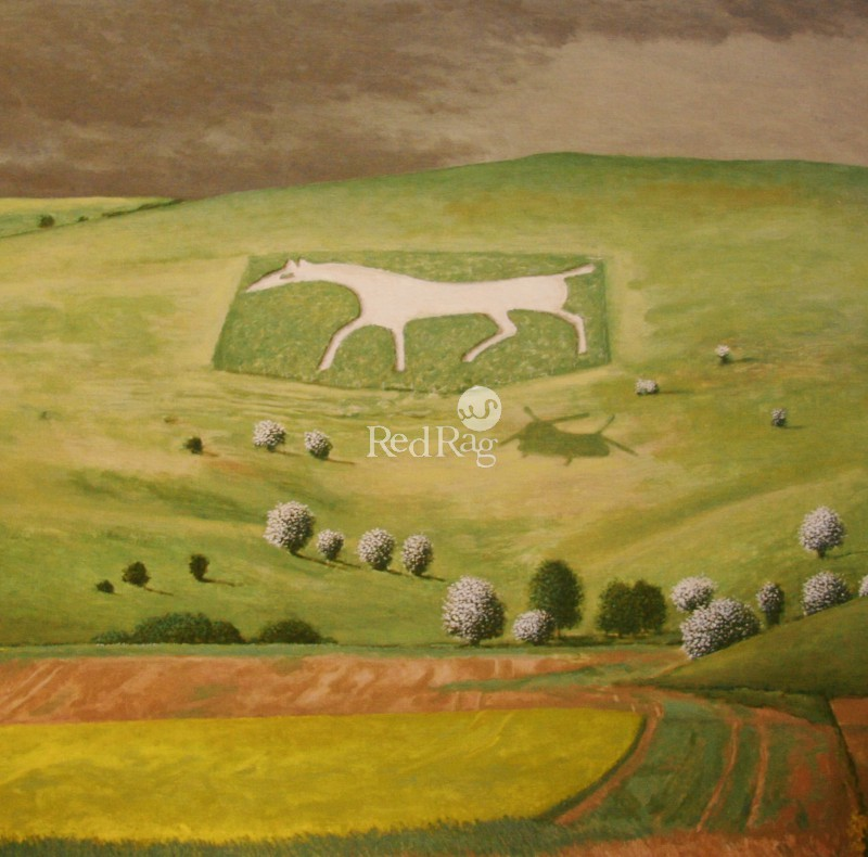 David Inshaw - White Horse Alton Barnes