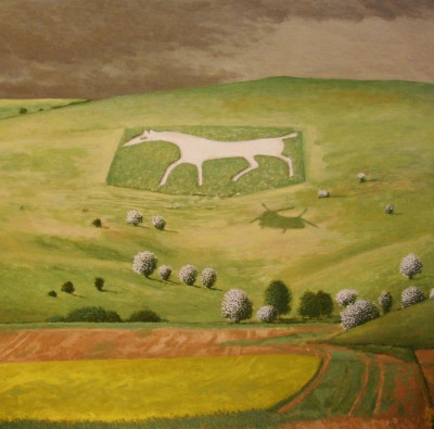 Limited Edition Prints Artist David Inshaw - White Horse Alton Barnes