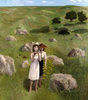 Limited Edition Prints Artist David Inshaw - Wiltshire Landscape A Moment