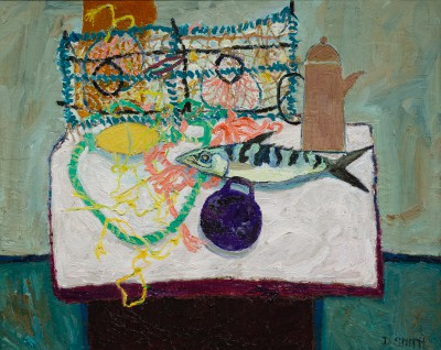 'Coffee Pot and Fish' painting