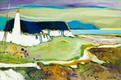 'Back Houses Berneray' painting