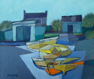 Yellow Boats on the Slipway