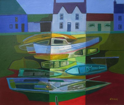 Davy BROWN, contemporary artist - Boats Resting