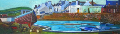 Davy BROWN, contemporary artist - Galloway Harbour