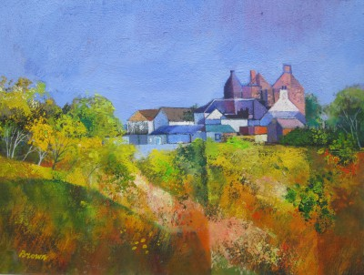 Davy BROWN, contemporary artist - Tower House through the Trees