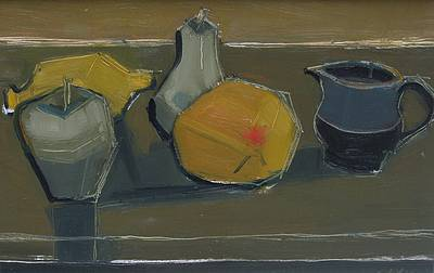 British Artist Dawn SIDOLI - Still Life with Grapefruit