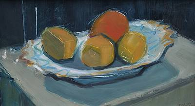 British Artist Dawn SIDOLI - Still Life with Orange