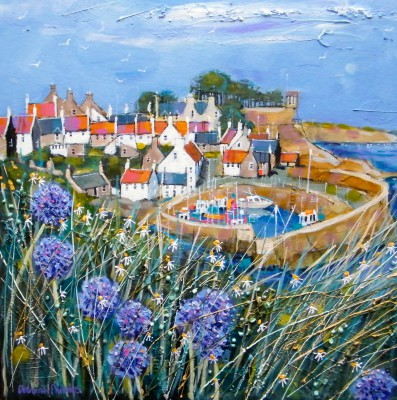 Limited Edition Prints Artist Deborah Phillips - Clifftop Allium Crail