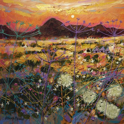 Limited Edition Prints Artist Deborah Phillips - Hot Fiery Sunset