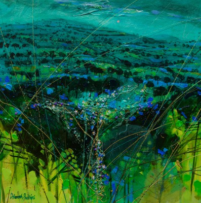 Limited Edition Prints Artist Deborah Phillips - Turquoise Hillside Dusk
