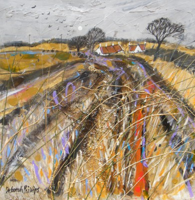 Limited Edition Prints Artist Deborah Phillips - Stubbly Field at Abercrombie