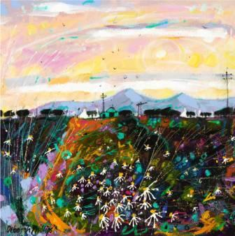 Limited Edition Prints Artist Deborah Phillips - Sundown Daisies