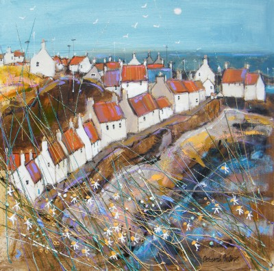 Limited Edition Prints Artist Deborah Phillips - Sunny West Shore Pittenweem
