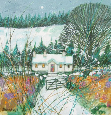 Limited Edition Prints Artist Deborah Phillips - Wintery Moon