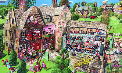 British Artist Richard Adams - Dolls House