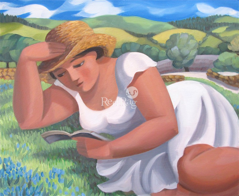 Elizabeth RIDGWAY - Reading on the Lawn