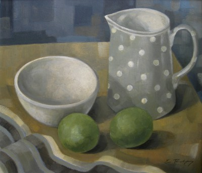 British Artist Elizabeth RIDGWAY - Jug and Limes