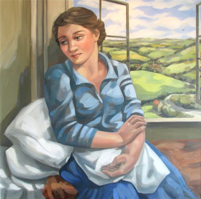 British Artist Elizabeth RIDGWAY - The Visit