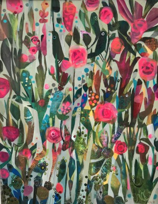 British Artist Este MacLEOD - In the Rose Garden