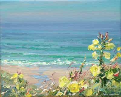British Artist Mark PRESTON - Evening Primroses, Sennen Cove