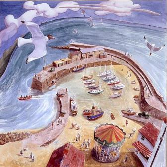 British Artist Francis Farmar - The Cobb - Lyme Regis