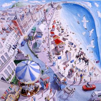 British Artist Francis Farmar - August in Weymouth