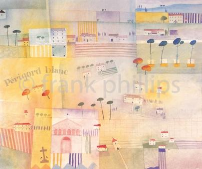 Limited Edition Prints Artist Frank Phillips - Perigord Blanc