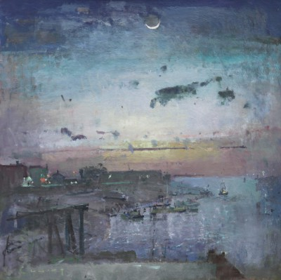 British Artist Fred CUMING - Crescent Moon, Rye Harbour
