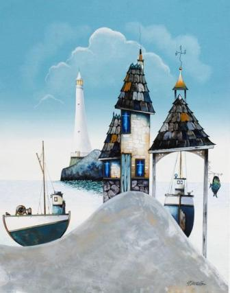 British Artist Gary Walton - Lighthouse Views
