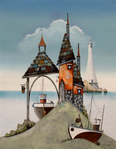 British Artist Gary WALTON - The Four Spires