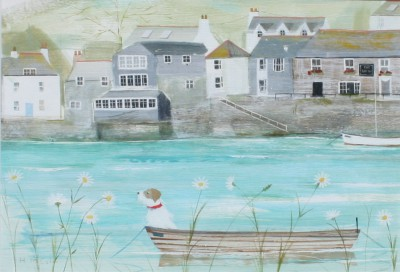 British Artist Hannah COLE - Waiting by Ship Inn