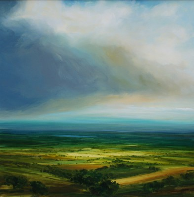 British Artist Harry BRIOCHE - Distant Blue
