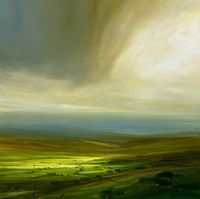 British Artist Harry BRIOCHE - Sunlit Valley