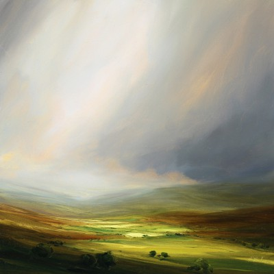 British Artist Harry BRIOCHE - Autumn on Yorkshire Dale