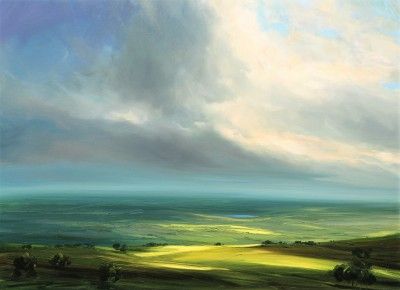 British Artist Harry BRIOCHE - Hazy Summer, High Peak