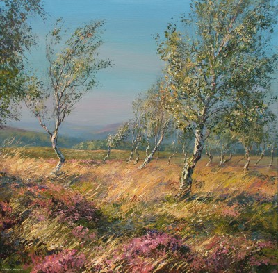Heather and Silver Birches, Froggatt Edge