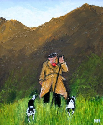 British Artist Heather MOSELEY - Shepherd On The Hills