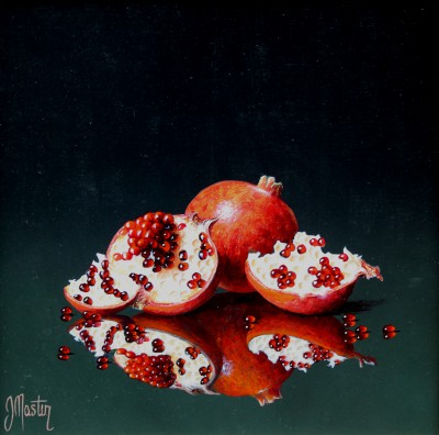 Ian MASTIN - Pomegranates in Reflection