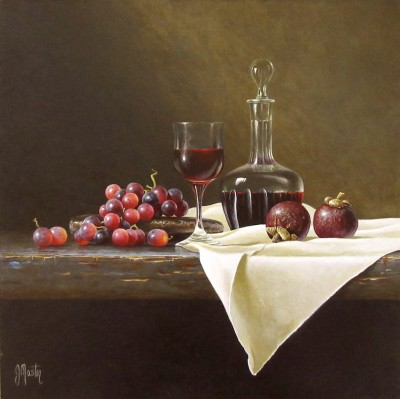 Still Life with Grapes painting by artist Ian MASTIN
