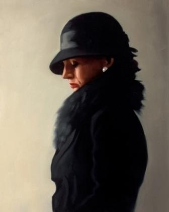 Limited Edition Prints Artist Jack Vettriano - Portrait in Black and Pearl