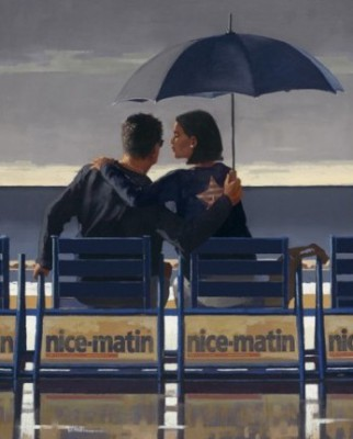 Limited Edition Prints Artist Jack Vettriano - Blue Blue
