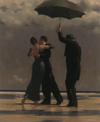 Limited Edition Prints Artist Jack Vettriano - Dancer in Emerald